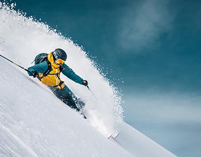Skifahren Winter